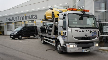 Renault minuta ASP - vzdrževanje vozil